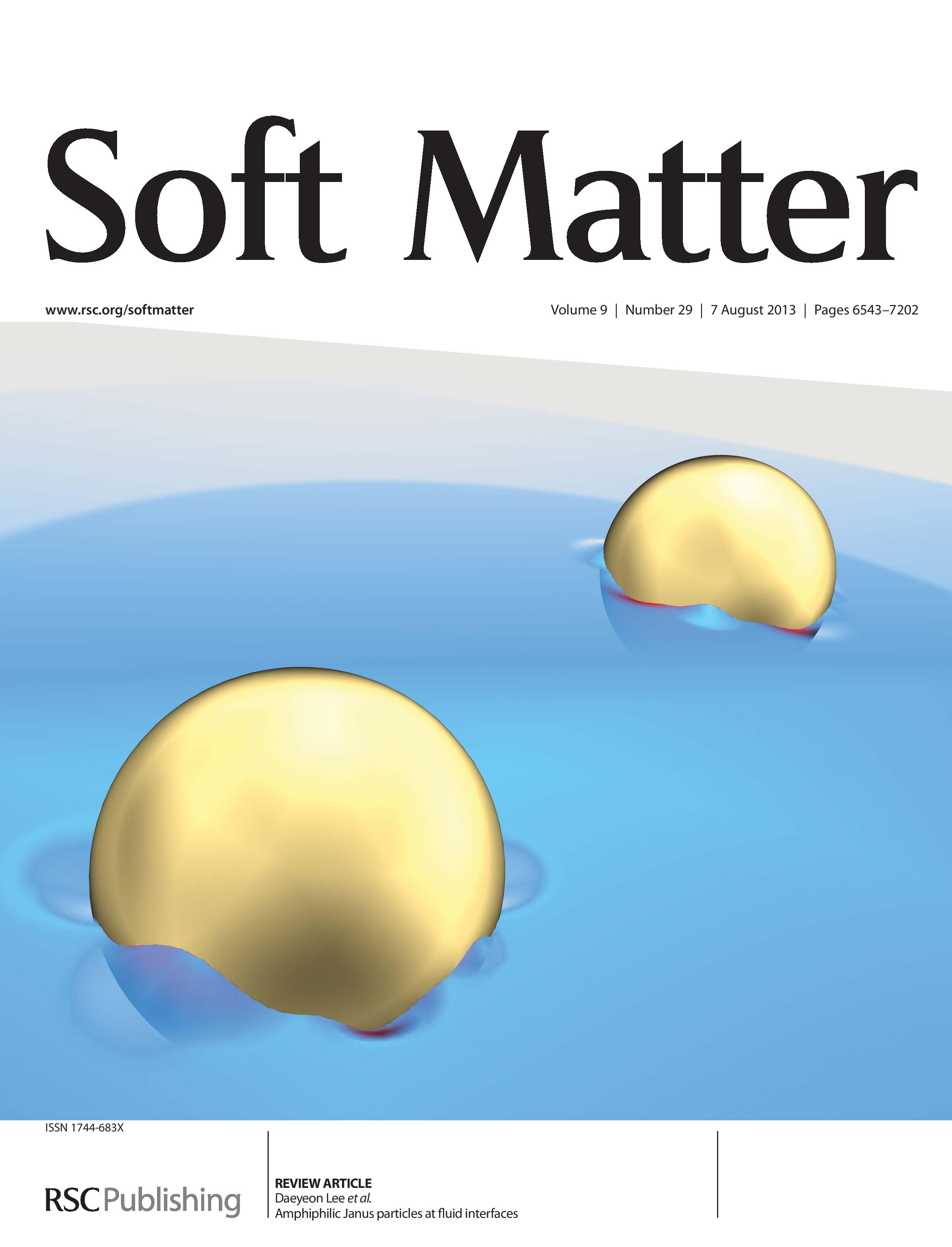 Soft Matter Inside Cover